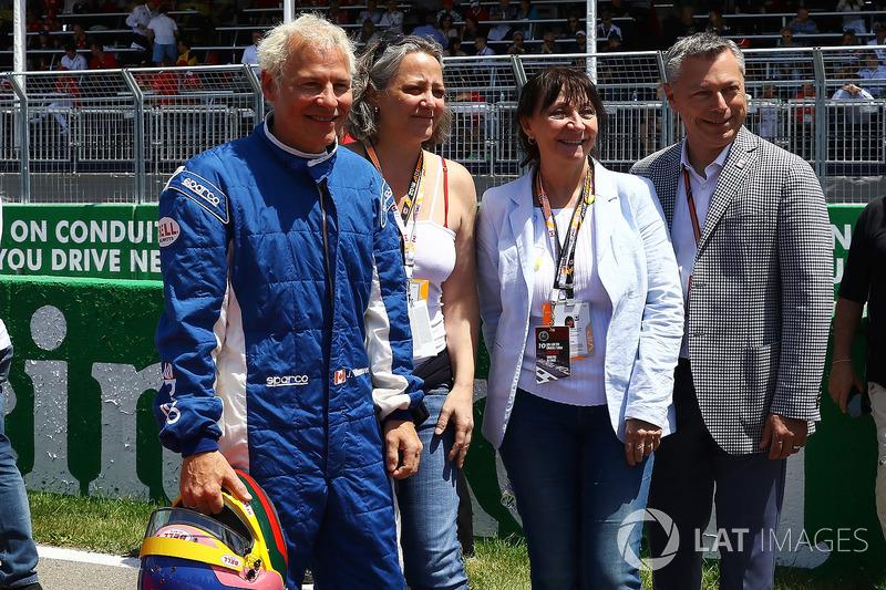 Jacques Villeneuve, Melanie Villeneuve Joanne Villeneuve, e Francois Dumontier