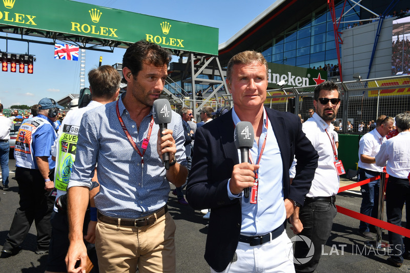 Mark Webber, and David Coulthard, Channel 4 F1 on the grid