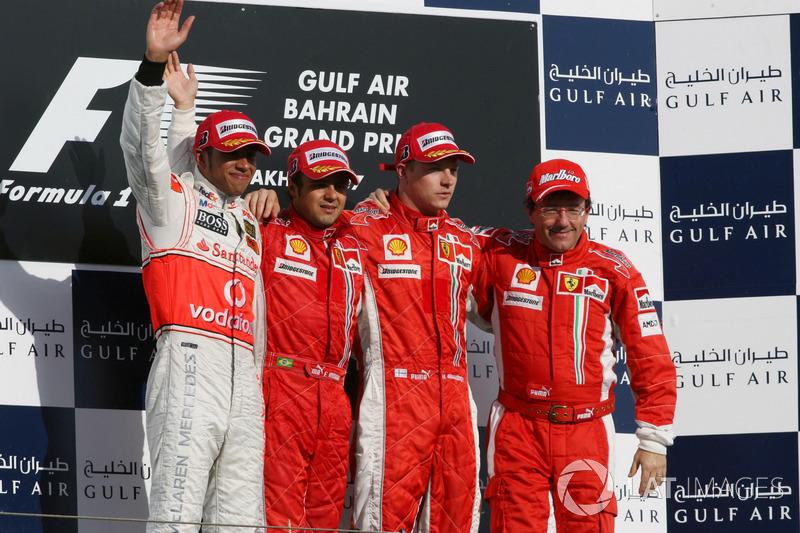 2007. Подіум: 1. Феліпе Масса, Ferrari. 2. Льюіс Хемілтон, McLaren. 3. Кімі Райкконен, Ferrari