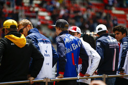 Nico Hulkenberg, Renault Sport F1 Team, Sergey Sirotkin, Williams Racing, Brendon Hartley, Toro Rosso, Charles Leclerc, Sauber, Esteban Ocon, Force India, and Lance Stroll, Williams Racing