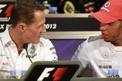 Michael Schumacher, Mercedes AMG y Lewis Hamilton, McLaren