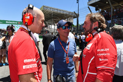 Jock Clear, Ferrari Chief Engineer, Rubens Barrichello, Gino Rosato, Ferrari