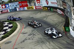 Max Chilton, Carlin Chevrolet, Zach Veach, Andretti Autosport Honda, Spencer Pigot, Ed Carpenter Racing Chevrolet