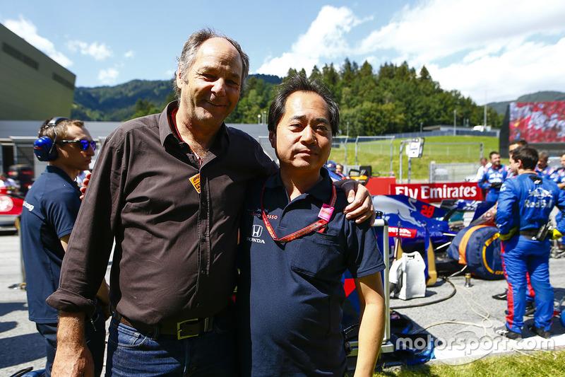 Gerhard Berger et Toyoharu Tanabe, directeur technique Honda F1