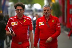 Maurizio Arrivabene, Team Principal, Ferrari, and Mattia Binotto, Ferrari Chief Technical Office