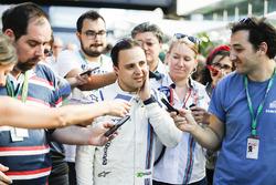 Felipe Massa, Williams, talks after his final home grand prix