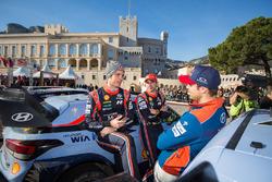 Thierry Neuville, Nicolas Gilsoul, Andreas Mikkelsen, Hyundai Motorsport