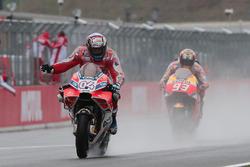 Race winner Andrea Dovizioso, Ducati Team, second place Marc Marquez, Repsol Honda Team