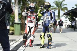 Fans von Dani Pedrosa und Valentino Rossi