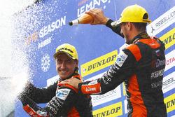 Podium: race winners #26 G-Drive Racing Oreca 07 - Gibson: Roman Rusinov, Andrea Pizzitola