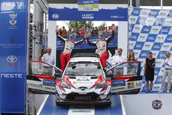 Third place Jari-Matti Latvala, Miikka Anttila, Toyota Yaris WRC, Toyota Gazoo Racing