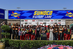 Martin Truex Jr., Furniture Row Racing, Toyota Camry 5-hour ENERGY/Bass Pro Shops, in victory lane