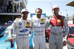 Topdrie na kwalificatie: Pole position voor Gary Paffett, Mercedes-AMG Team HWA, Philipp Eng, BMW Team RBM, René Rast, Audi Sport Team Rosberg