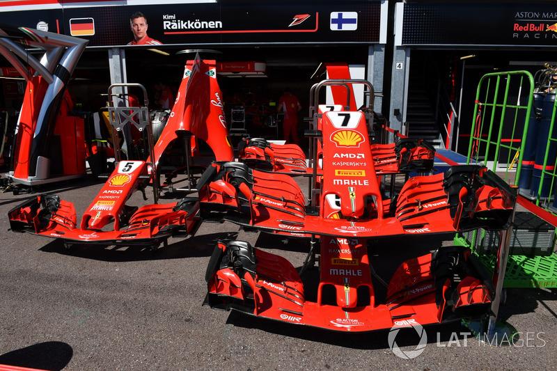 Nez et ailerons avant Ferrari SF71H