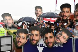Daniel Ricciardo, Red Bull Racing fans with masks