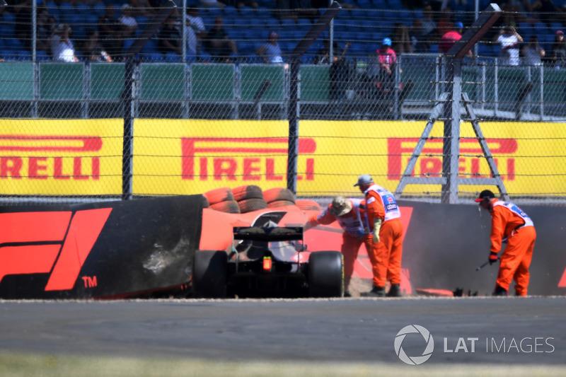 Brendon Hartley, Scuderia Toro Rosso STR13, dopo l'incidente