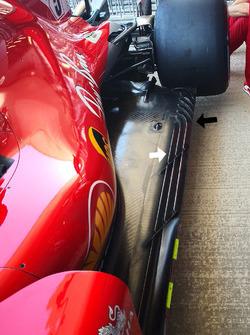 Le fond plat de la Ferrari SF71H
