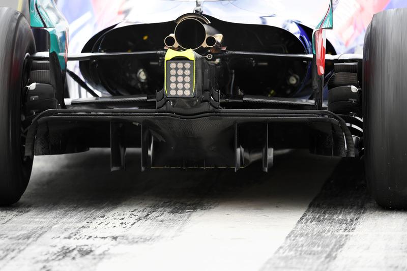 Scuderia Toro Rosso STR13 rear diffuser detail