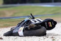 La moto de Yonny Hernandez, Pedercini Racing après sa chute