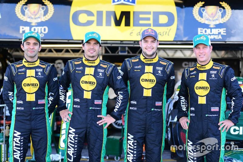 Antonio Pizzonia, Marcos Gomes, Felipe Fraga e Rodrigo Sperafico