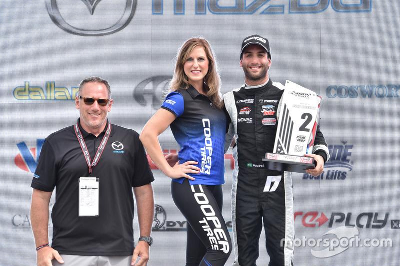 Second place André Negrao, Schmidt Peterson Motorsports
