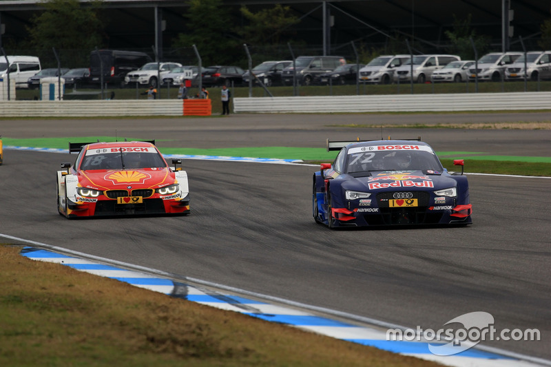 Augusto Farfus, BMW Team MTEK, BMW M4 DTM; Rene Rast, Audi Sport Team Phoenix, Audi RS 5 DTM