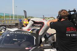 Winnaar hoofdrace Laurens Vanthoor, Frederic Vervisch, Audi R8 LMS, Belgian Audi Club Team WRT