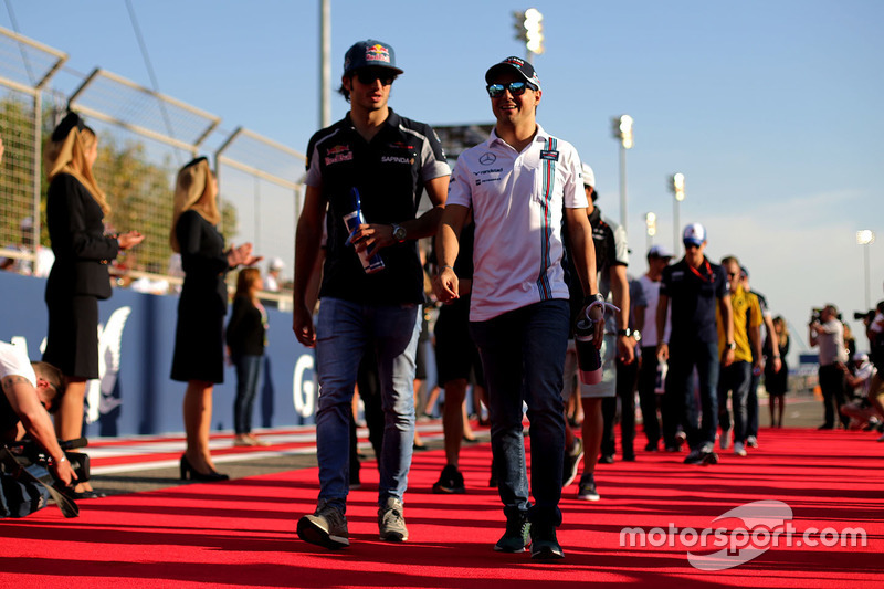 Felipe Massa, Williams und Carlos Sainz Jr., Scuderia Toro Rosso