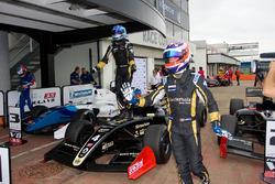 Race winner Roy Nissany, Lotus, second place Rene Binder, Lotus