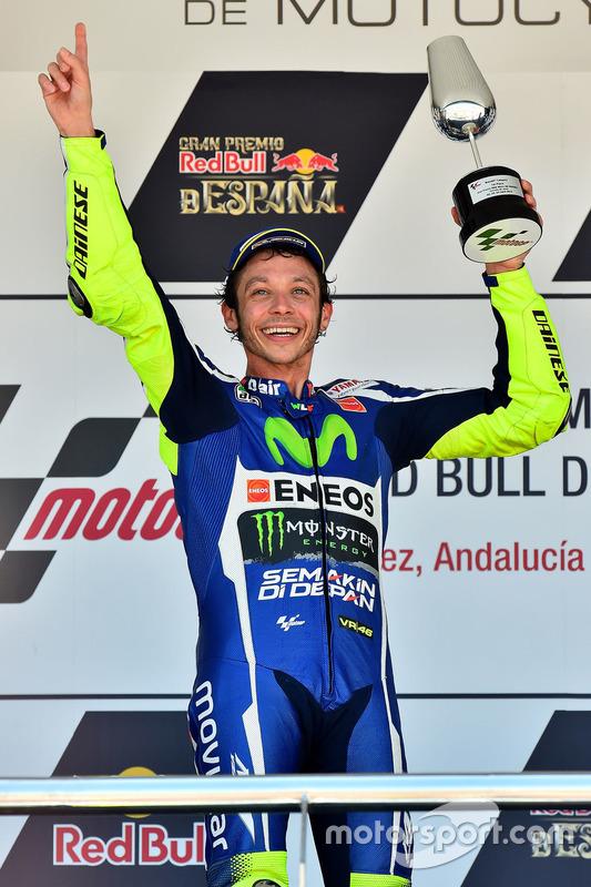 Podium: Sieger Valentino Rossi, Yamaha Factory Racing
