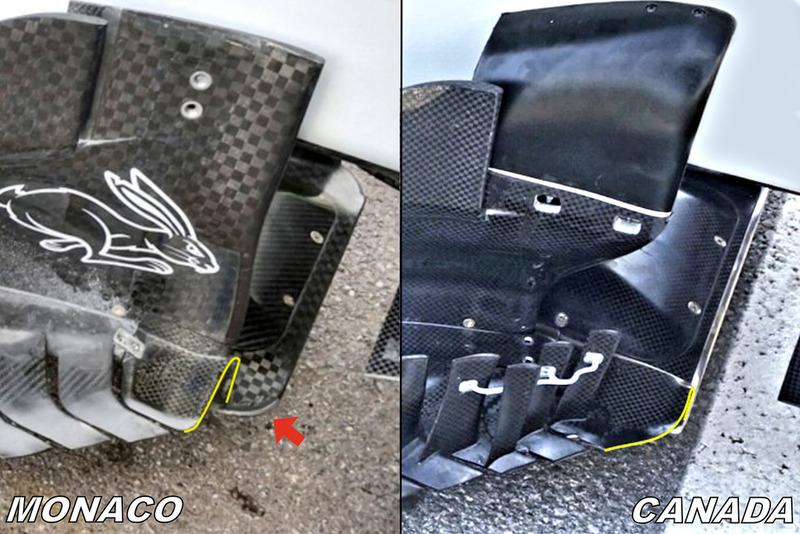 Fond plat et dérives de la Haas F1 Team VF-18