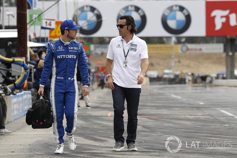 Ed Jones, Chip Ganassi Racing Honda, dan Dario Franchitti