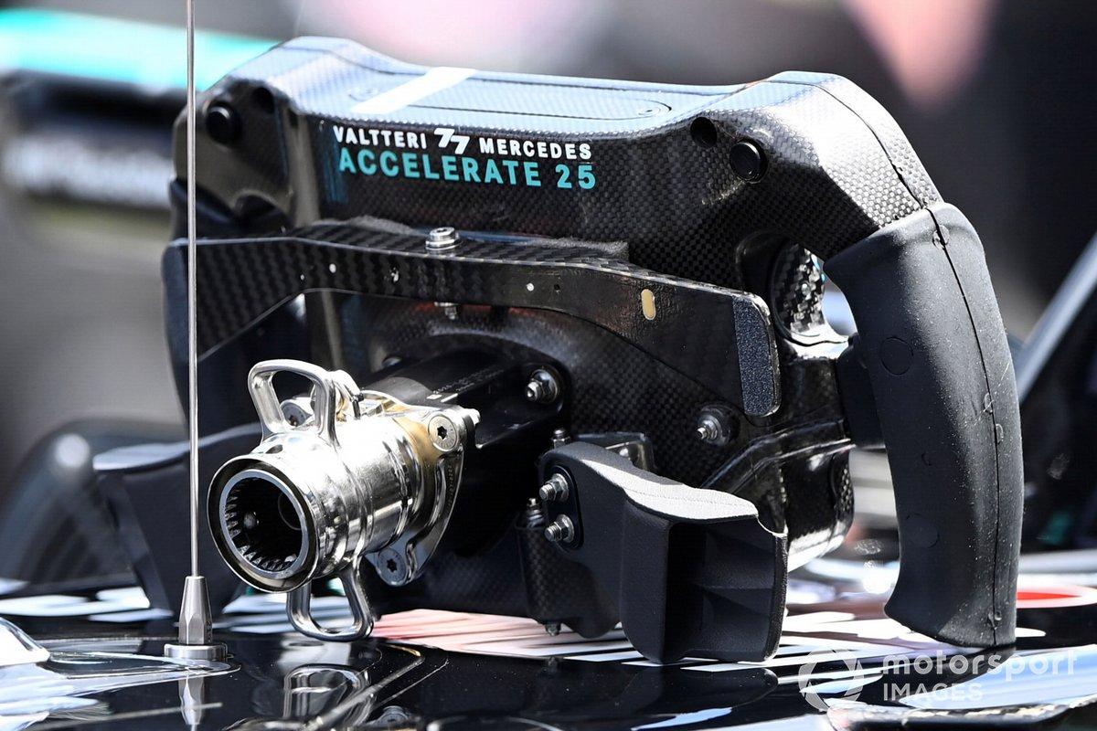 Mercedes W12 steering wheel, rear view