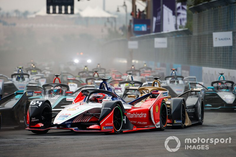 Jérôme d'Ambrosio, Mahindra Racing, M5 Electro Andre Lotterer, DS TECHEETAH, DS E-Tense FE19, alla partenza