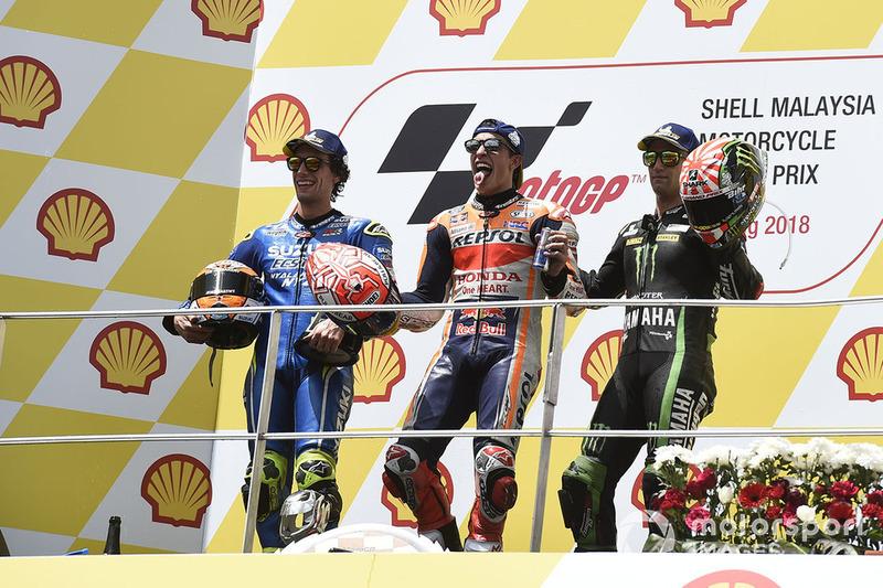 Ki-ka: Alex Rins, Team Suzuki MotoGP, Marc Marquez, Repsol Honda Team, Johann Zarco, Monster Yamaha Tech 3