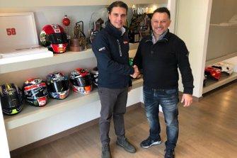 Filippo Redaelli, Amministratore Delegato di Total Italia e Fausto Gresini, Team Manager, Gresini Racing