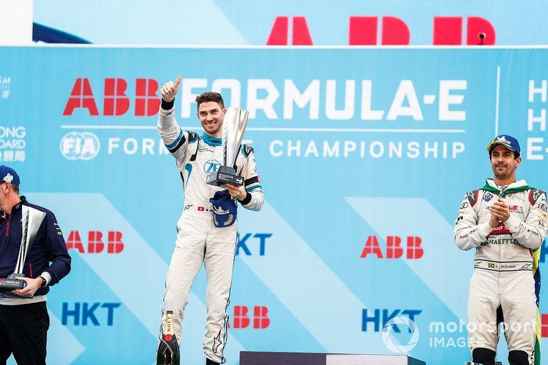 Edoardo Mortara, Venturi Formula E celebrates 2nd position on the podium
