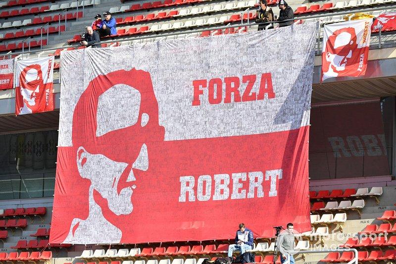 Pancarta de Robert Kubica, Williams Racing
