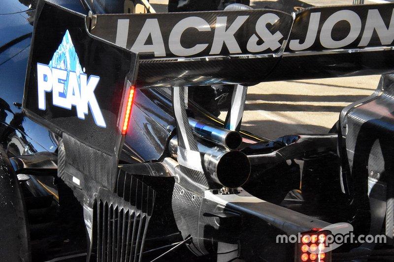 Detalle técnico de Haas F1