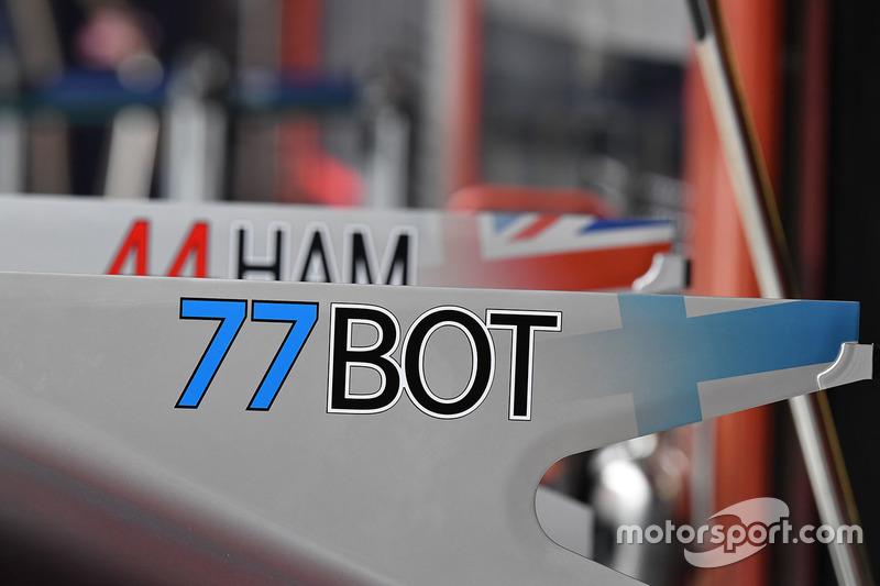 Mercedes AMG F1 W08, фрагмент