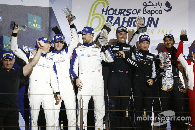 GTE-Am-Podium: 1. #88 Proton Racing, Porsche 911 RSR: Khaled Al Qubaisi, David Heinemeier Hansson, P