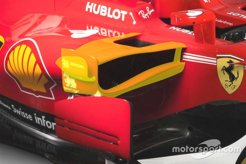 Ferrari SF70H sidepod detail