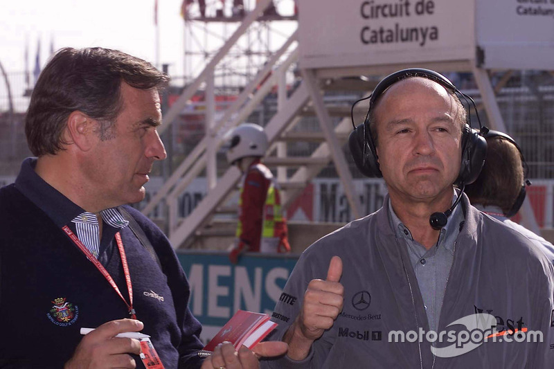 Giorgio Piola avec Jo Ramírez, McLaren