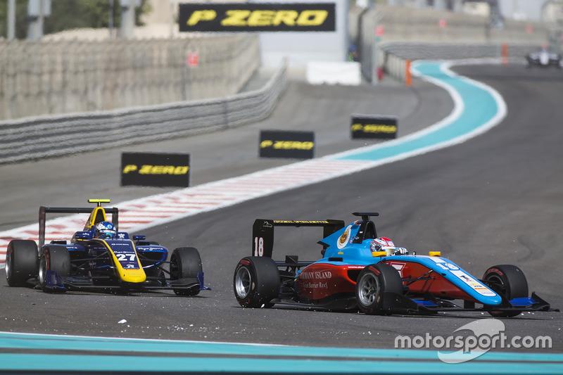 Akash Nandy, Jenzer Motorsport leads Jake Hughes, DAMS