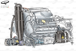 Red Bull RB8 installation of RS27 engine (battery bottom right)