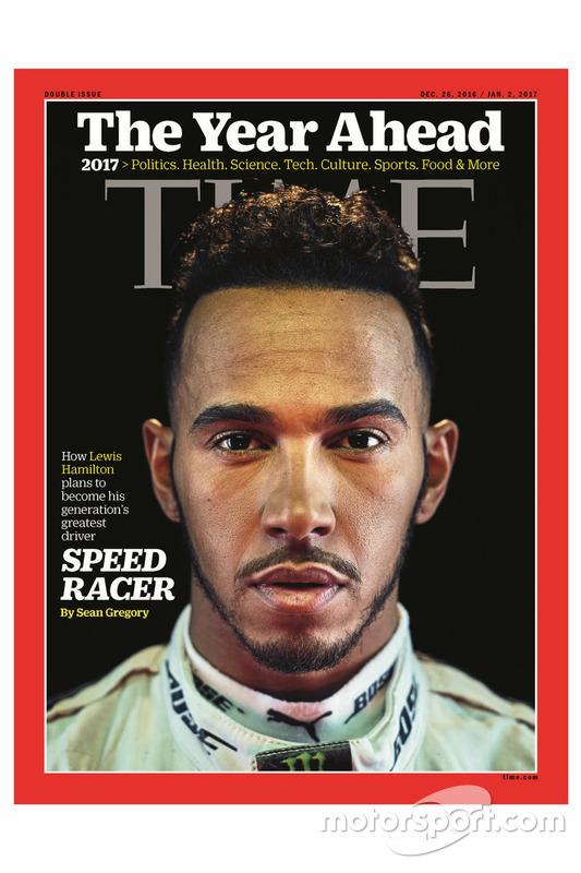 Lewis Hamilton en couverture du magazine Time