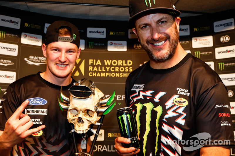 Andreas Bakkerud, Hoonigan Racing Division, Ford Focus RSRX y Ken Block, Hoonigan Racing Division, Ford Focus RSRX