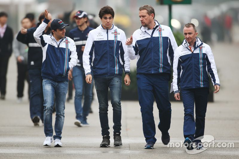 Felipe Massa, Williams; Lance Stroll, Williams; Paddy Lowe, Williams Formula 1