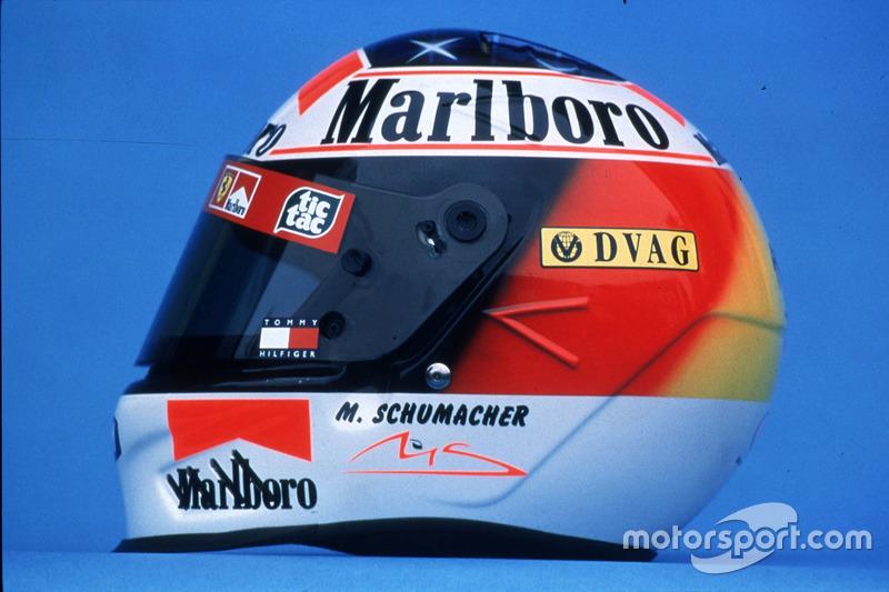 2000: el casco de Schumacher para el nuevo año