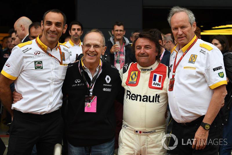 Cyril Abiteboul, Renault Sport F1 director general, René Arnoux, Alex Mea, Jerome Stoll, Director de